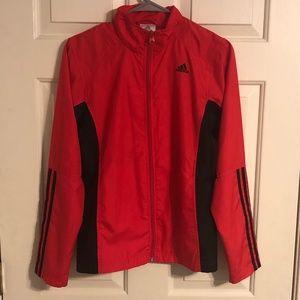 Adidas Women's Red/Black Jogging Jacket